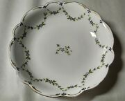Antique Limoges France Flambeau Ldbc Shallow Floral Painted Bowl Signed