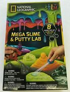 National Geographic Mega Slime Kit Putty Lab - 4 Types Of Amazing Slime New