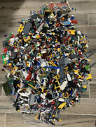 Lego Collection Lot Mini Figures, Blocks, Handful Of Manuals 45 Lbs