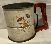 Androck Hand-i-sifter 3 Screen Flour Sifter Vintage 1950's