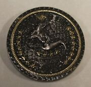 Naval Special Warfare Seal Team Four / 4 Gold And Black Nickel Lltb Challenge Coin