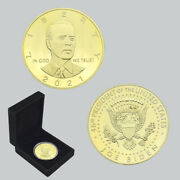 Us President Biden Gold Plated Coin Challenge Metal Coins In Gift Box