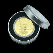 Us President Biden Gold Plated Coin Challenge Metal Coins In Gift Box Collection