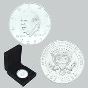 Us President Biden Silver Plated Coin Challenge Metal Coins In Gift Box
