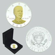 2021 Us President Biden Gold Silver Plated Coin Challenge Metal Coins In Box