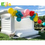 Commercial Or Residential White Bouncy Castle Inflatable Jumping Tent Adult Kids