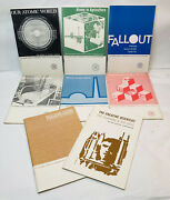 1960andrsquos Lot Of 8 Us Atomic Energy Commission Technical Booklets Nuclear Science