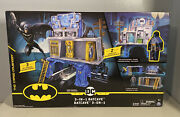 Dc Comics Batman 3 In 1 Batcave Playset And Exclusive 4 Action Figure New