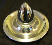 Chevy Rally Chrome Bullet Top Hub Caps With 3-1/2 Tall Bullets 2 Very Cool
