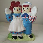 Raggedy Ann And Andy Cookie Jar From Japan Expedite Shipping By Fedex Rsmi