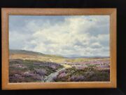 Antique Original Oil Painting By George Melvin Rennie Lovely Dinnet Moor