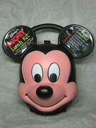 Disney Mickey Mouse Face Lunch Box Kit Water Bottle Vintage W / Original Thermos