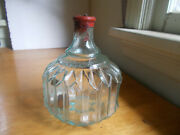 Rare 6 3/8 Size Hayward Hand Grnade Fire Extinguisher Ny 1880s Pleated Bottle