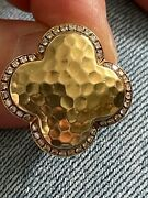 Womens Pre-owned Roberto Coin 18k Yellow Gold And Diamond Ring Size 7