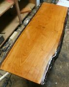 Cherry Live Edge Coffee Table Finished With Hair Pin Legs