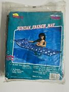 2 1994 Vintage Sunco Inflatable Suntan French Mat Silver Tanning Tool 76x28 In