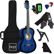 Best Choice Products 38in Beginner All Wood Acoustic Guitar Starter Kit W/gig Ba