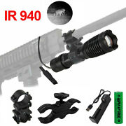 Night Vision 940nm Ir Led Zoomable Infrared Radiation Flashlight Torch Lamp 10w