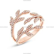Conflict-free Band Wedding Ring 14k Rose Gold Natural Diamond Jewelry
