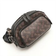Coach Horse Carriage Hitch Belt Bag Pvcx Leather Body Bag Brown