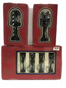 Dickens Collectibles Christmas Village Street Lamps Posts Railroad Crossing Lot