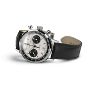Hamilton American Classic White Menand039s Watch With Black Leather Band - H38416711