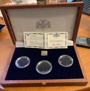 1994 Ussr Russia Ballet Palladium Coins Box And Certificate Of Authenticity