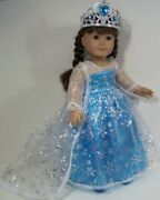 4pc Elsa Princess Dress Frozen Costume Doll Clothes For 18 American Girl Debs