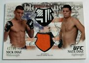 2012 Topps Ufc Bloodlines Nick Diaz And Nate Diaz Dual Fight Worn Relic /88