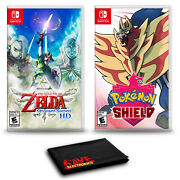 The Legend Of Zelda Skyward Sword Hd And Pokemon Shield - Two Game Bundle For