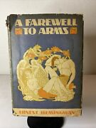 A Farewell To Arms By Ernest Hemingway 1929 Hc Dj First Edition Misspelled Error