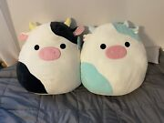 Squishmallows Connor And Belana The Cow 16 Inch Bundle Nwt