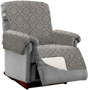 Sofa Shield Patented Large Recliner Slipcover Reversible Tear Resistant Soft Qu