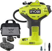 Ryobi P737d Portable Power Inflator With P118b Charger 1.5 Ah Lithium-ion Batte