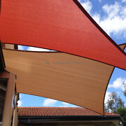 Brown 31 Ft Heavy Duty Steel Wire Cable Sun Shade Sail Canopy Patio Pool