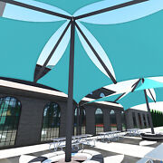 Turquoise 39 Ft Heavy Duty Steel Wire Cable Sun Shade Sail Canopy Patio Yard