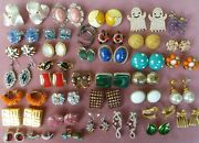 Stunning Large Vtg Earrings Jewelry Lot Gres, Paris Germany Nusi And More