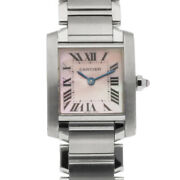 Watches Silver Pink Stainless Steel Tank Francais From Japan Used