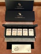 2011 American Silver Eagle 25th Anniversary Er 5 Coin Setngc Pf69 And Ms69