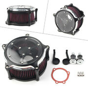 Air Cleaner Intake Filter System Fit Harley Sportster Iron 1200 883 72 1991-2019