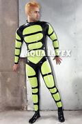 Turtle Pattern Suit Rubber Latex Bodysuit Fashion Latex Costume Rubber Cosplay