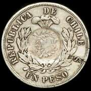 Lucernae Chile Peso Restruck To 1/2 Real Guatemala In 1894 Santiago 1882