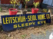 96 Sleepy Eye Mn Antique 20and039s Leitschuh-seidl Porcelain Hardware Sign Pottery
