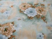 Bargain Roll End Of 6.7 Metres Vintage Pastel Floral Cotton Print Fabric