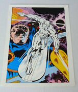 Original 1970and039s Kirby Silver Surfer Marvel Comics Fantastic Four 72 Cover Poster