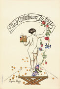 Original Vintage Poster French Ball Artists 1927 Nude Painter