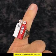 Sky Chief And Texaco Miniature Gas Pumps Charm Ring Premium With Vending Capsule