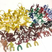 Marx Mpc Etc Vintage Cowboys And Indians Play Set Plastic Toy Figures Lot Of 85