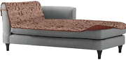Sofa Shield Patented Chaise Slipcover Reversible Tear Resistant Soft Quilted Mi