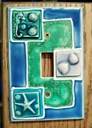 All Fired Up Ceramic Switchplate Single Toggle Wall Plate Marinel Shells Beach
